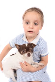 Free Small Girl And Dog Stock Photos - 2798773