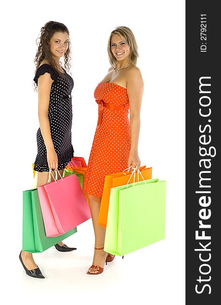 Girls on shopping