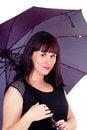 Free A Beautiful Girl With Umbrella Stock Image - 27902931