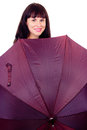 Free A Beautiful Girl With Umbrella Stock Images - 27902964