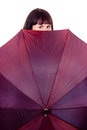 Free A Beautiful Girl With Umbrella Stock Image - 27902991