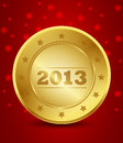 Free Happy New Year 2013 Golden Label Stock Photo - 27903460