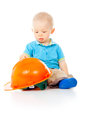 Free Little Boy With A Helmet Royalty Free Stock Photos - 27903818