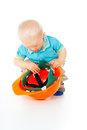 Free Little Child With A Helmet Royalty Free Stock Photo - 27903895