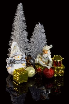 Free Christmas Decoration On A Black Background Royalty Free Stock Photos - 27900488
