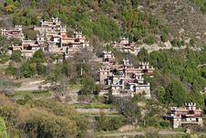 Tibetan Village Scene Stock Image
