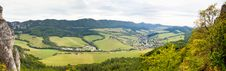Free Green Valley Panorama Royalty Free Stock Photos - 27901618