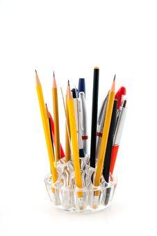 Free Pencils And Pens Stock Photos - 27904253