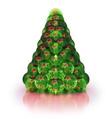 Free Stylized Christmas Tree.  On White Royalty Free Stock Photo - 27906345