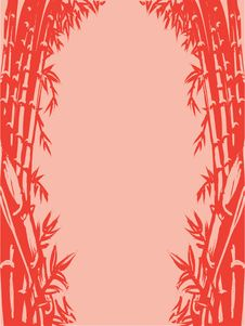 Background Sketch Of Oriental Bamboo Stock Images