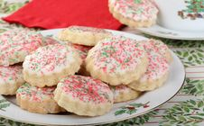 Shortbread Cookies Stock Photo