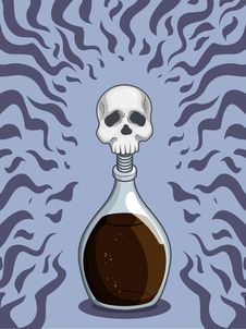 Free Bottle Of Death Poison Stock Photography - 27906942