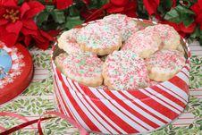Free Christmas Shortbread Sugar Cookies Stock Photos - 27907033
