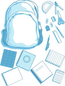 School Bag And School Supplies