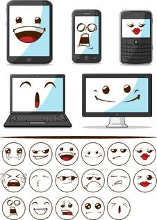 Free Gadget With Funny Expression Stock Photo - 27907480