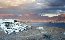 Free View On A New District Of Eilat And Red Sea Royalty Free Stock Image - 27907756