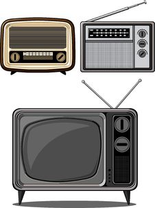 Free Retro Television And Radio Royalty Free Stock Photos - 27907758