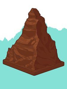 Free Swiss Chocolate In Matterhorn Shape Stock Photography - 27907872