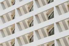 Free Building Facade With Window In Angle Royalty Free Stock Photos - 27908488