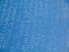 Free Braille Letter Stock Photography - 27908652