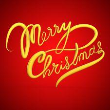 Merry Christmas Text Stock Photo
