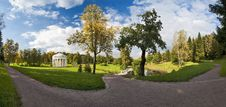 Panorama In The Autumn Park Royalty Free Stock Photos