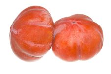 Free Persimmon Isolated On The White Stock Photos - 27909203