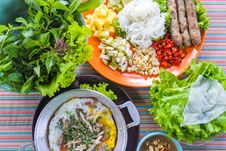 Traditional Northern Thai Native Food Set Royalty Free Stock Photo