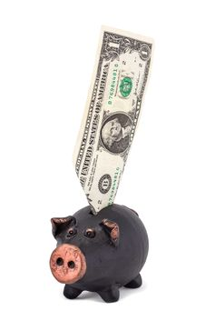 Free One Dollar And Piggy Bank Stock Photo - 27909660