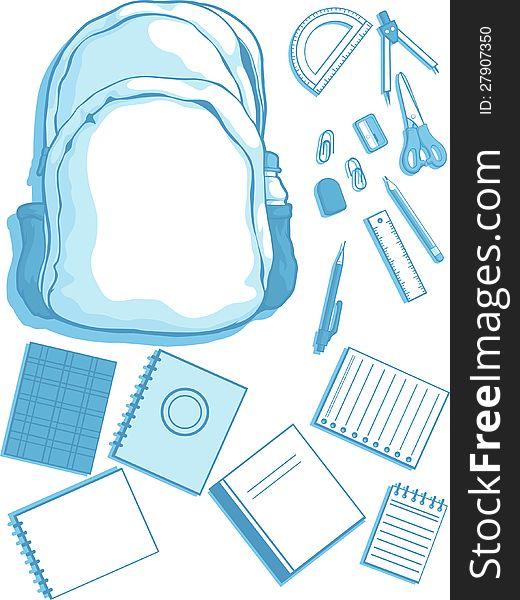 School Bag and School Supplies