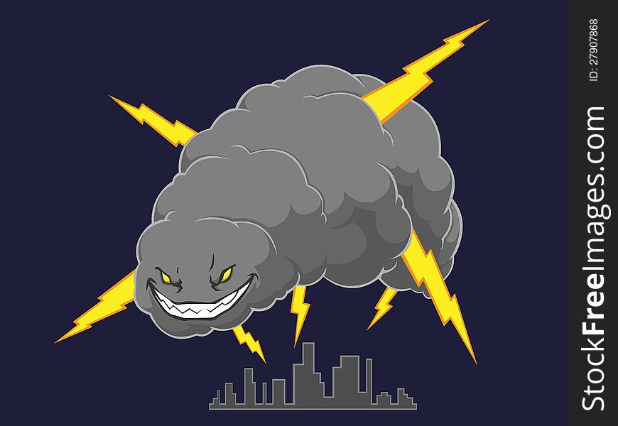 Storm Cloud Attacking A City