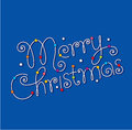 Free Merry Christmas Hand Lettering Royalty Free Stock Photos - 27912688