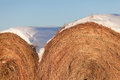 Free Snow-covered Hay Bales Royalty Free Stock Image - 27917886