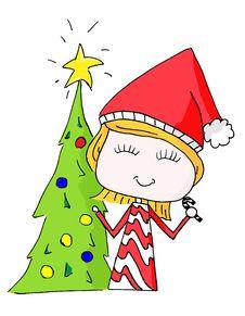 Free Christmas Elf Girl Royalty Free Stock Photos - 27910978