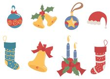 Free Merry Christmas Decorations Stock Images - 27911314