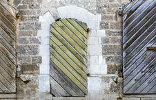 Free Two Ancient Wooden Doors, Riga, Latvia Stock Photos - 27911503