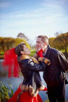 Free Wedding. Walk. Royalty Free Stock Photos - 27912008