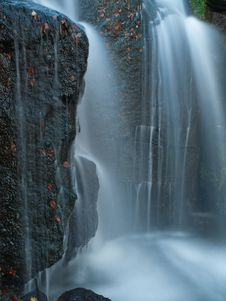Free Bright Waterfall In Derbyshire Royalty Free Stock Images - 27913019