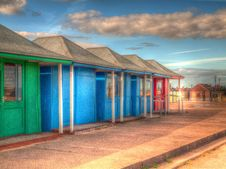 Free Bright Coloured Beach Huts HDR Stock Images - 27913194