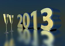 Free Sparkling Wine For 2013 Stock Photos - 27915723
