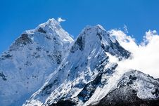 Free Himalayas Mountain Landscape, Mount Ama Dablam Royalty Free Stock Photography - 27916217