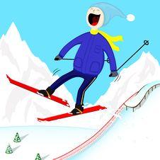 Free Ski-man Stock Image - 27916311