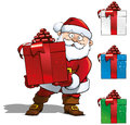 Free Santa Holding A Red Gift Stock Images - 27921214