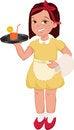 Free Waitress Girl Stock Image - 27925721
