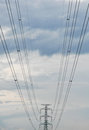 Free The Electricity Post And An Electric Line Stock Photos - 27928723