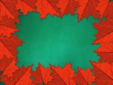 Free Chalkboard With Red Maple Leaves Royalty Free Stock Image - 27920426
