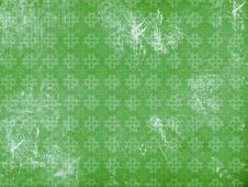 Vitage Flourish Pattern Green Background