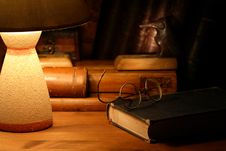 Free Old Books And Lamp Stock Images - 27922794