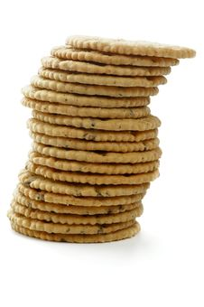 Stack Of Dry Biscuits Royalty Free Stock Image