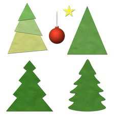 Free Christmas Tree Set Royalty Free Stock Images - 27924429